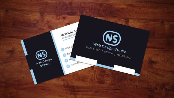 NS Web Design Studio 2016 Business Cards Graphic